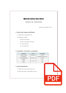Material Safety Data Sheet for Bodaq interior film
