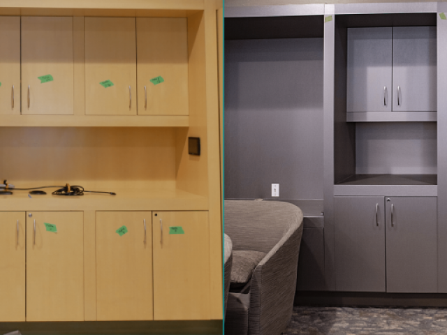 Cabinets Renovation Before and After | Tapestry at Arbutus Walk