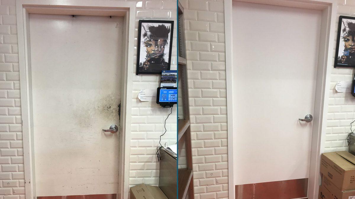 Cafe Door Renovation BEFORE-AFTER