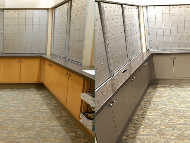 Lockers renovation BEFORE - AFTER | Arbutus Walk Tapestry