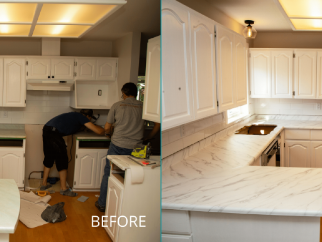 Countertop Upgrade BEFORE and AFTER
