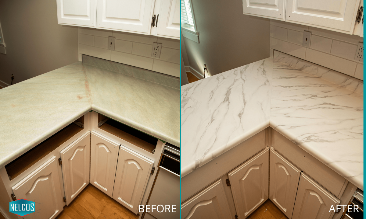 Countertop Upgrade - BEFORE and AFTER