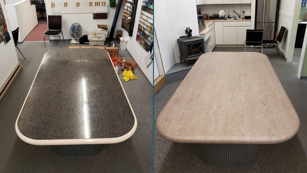 Desk Renovation BEFORE-AFTER