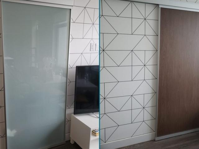 Sliding Door Renovation BEFORE-AFTER