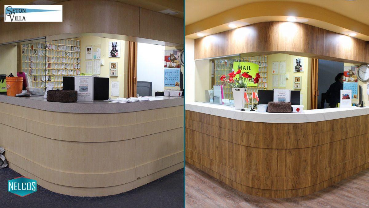 Front Desk Renovation BEFORE-AFTER