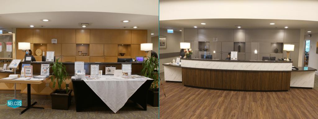 Front Desk Renovation - Before-After
