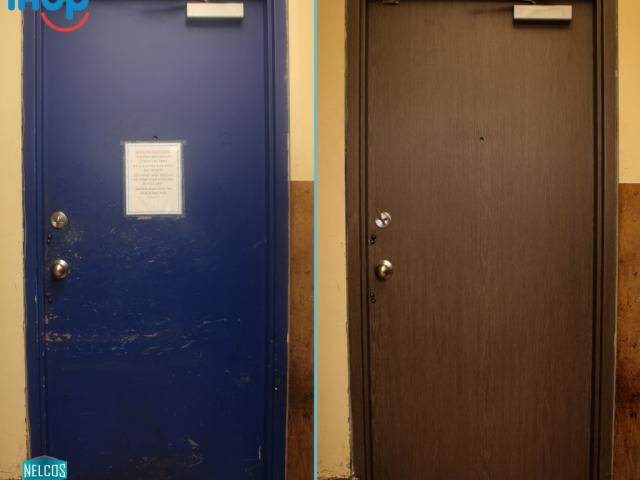 IHOP-Door-Refinish-Before-After
