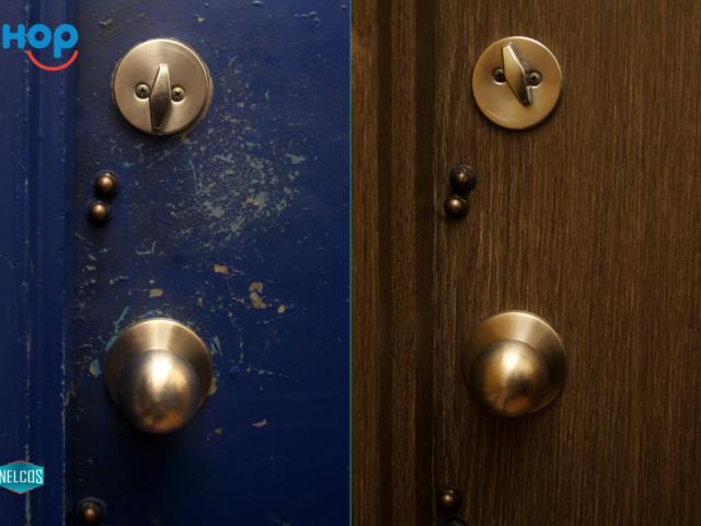 IHOP Door renovation Before-After