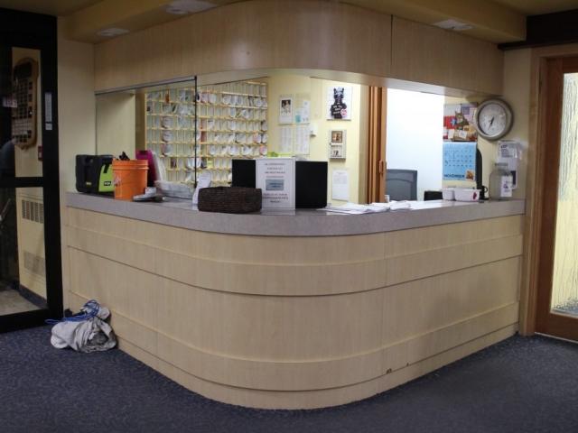 Front desk makeover