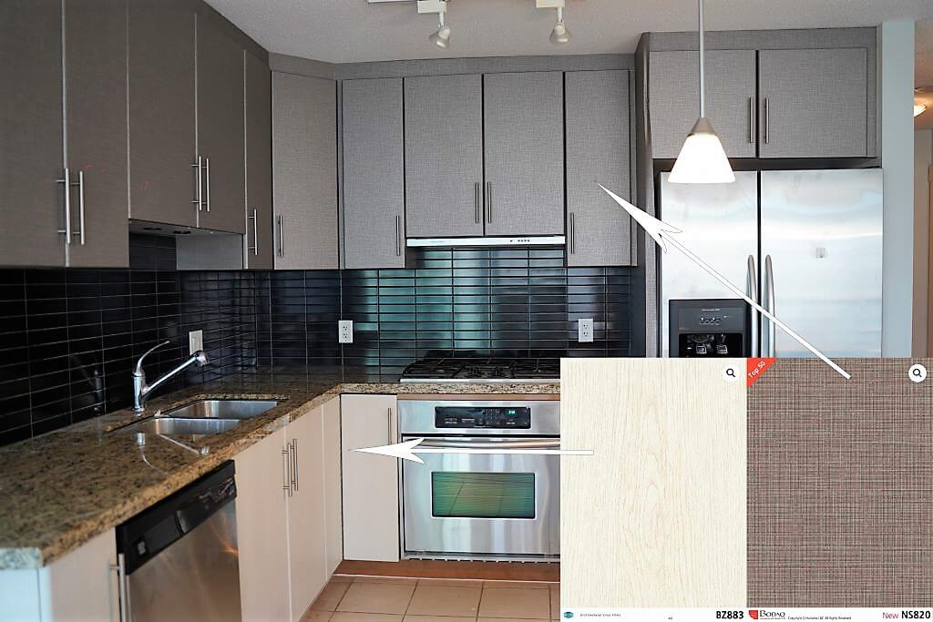 Kitchen Transformation, the After Look in Coal Harbour, Vancouver