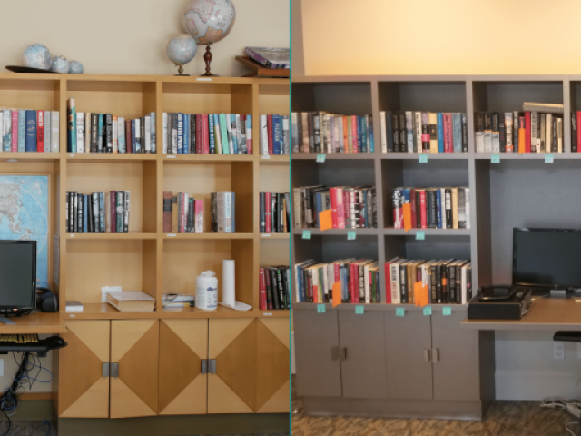 Library Renovation Before and After | Tapestry at Arbutus Walk