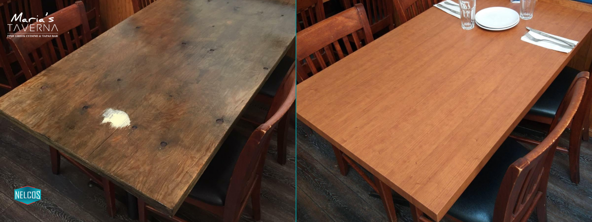 Marias Taverna Tables Renovation - BEFORE&AFTER