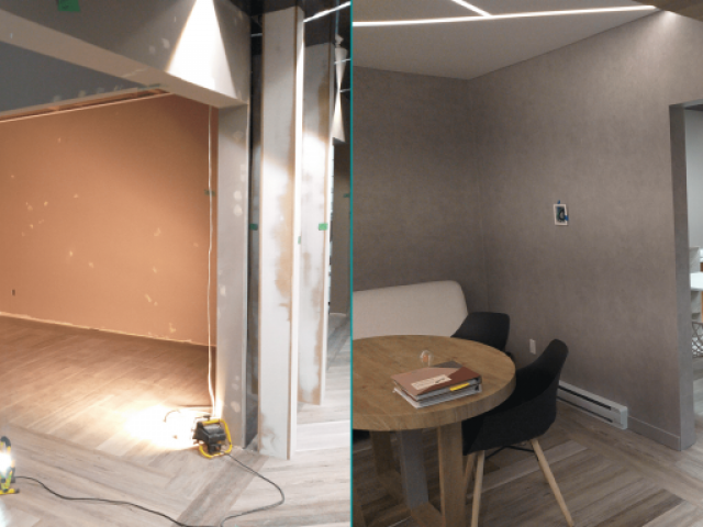 Office Renovation Before and After | DOS Design Group