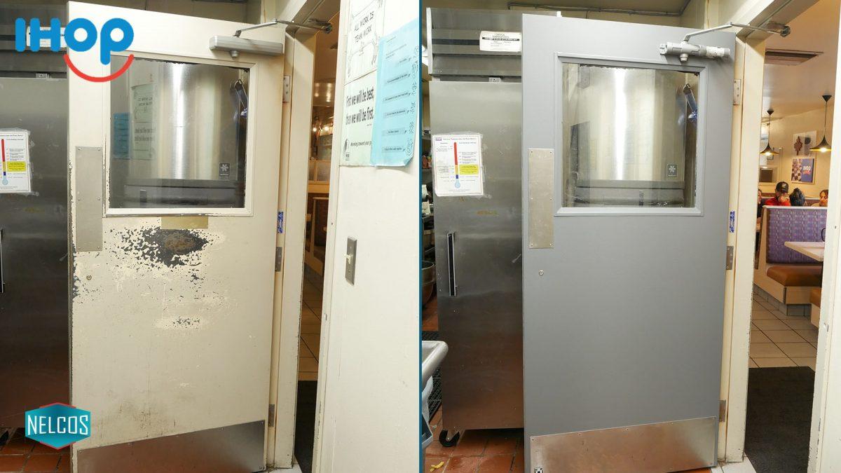 Restaurant Door Renovation BEFORE-AFTER