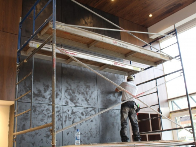 Huge Fireplace Wall Renovation