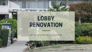 lobby renovation at Seton Villa, Burnaby