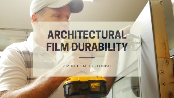 Architectural film durability | 6 months after refinish