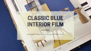 Classic blue interior film | elegant pantone color of the year