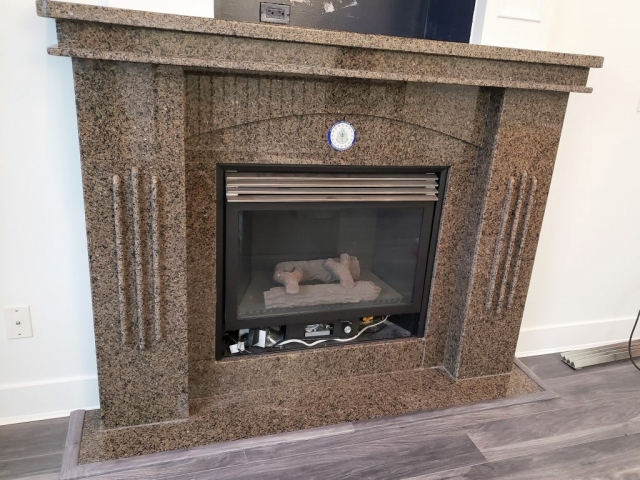 Renew it all - fireplace before refinish