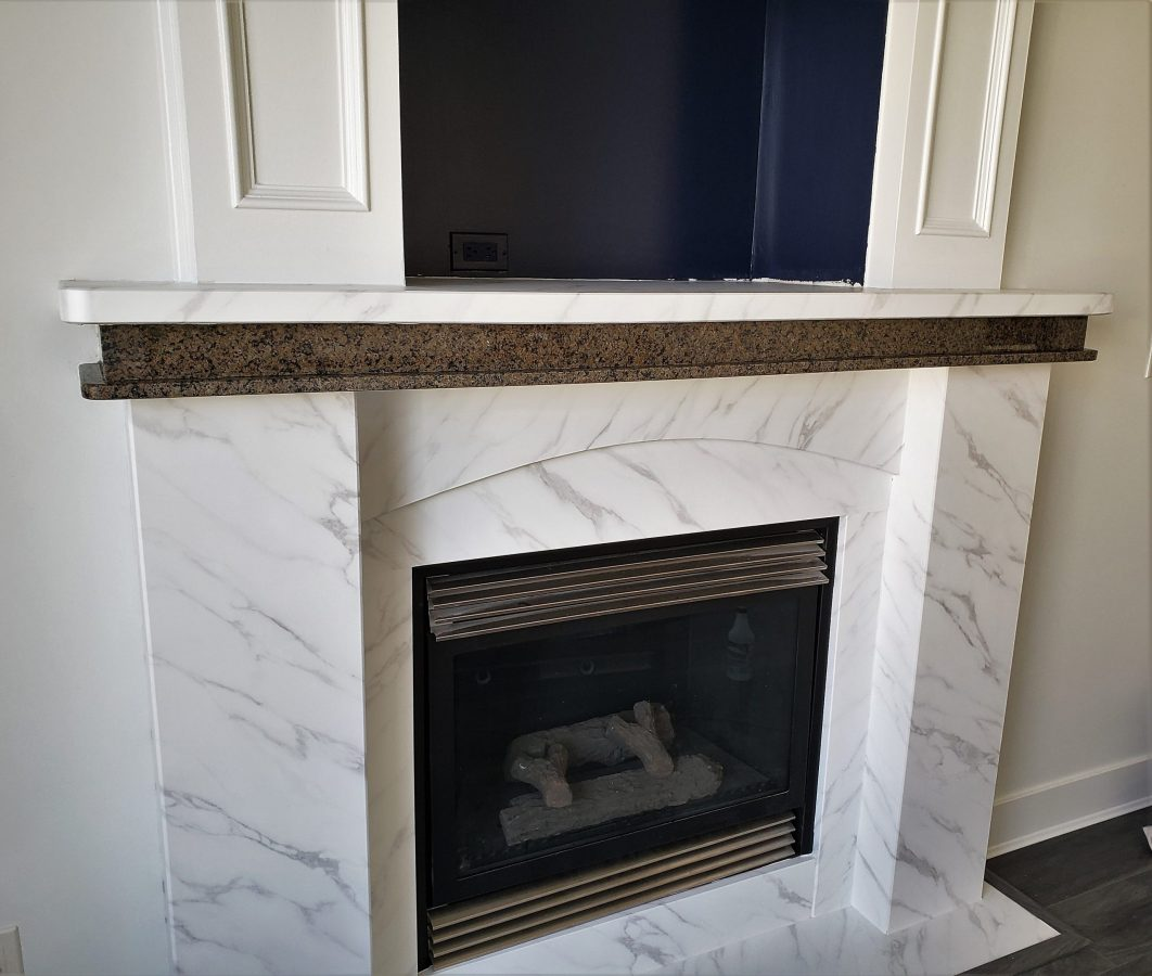 Renew it all - fireplace in the process of refinish