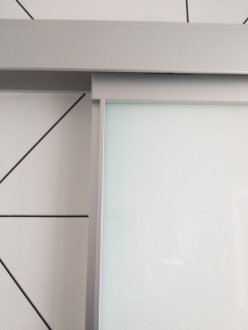 Sliding glass door refinish the before look