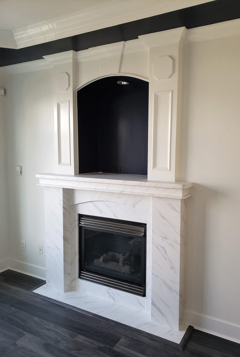 Renew it all! Fireplace after refinish