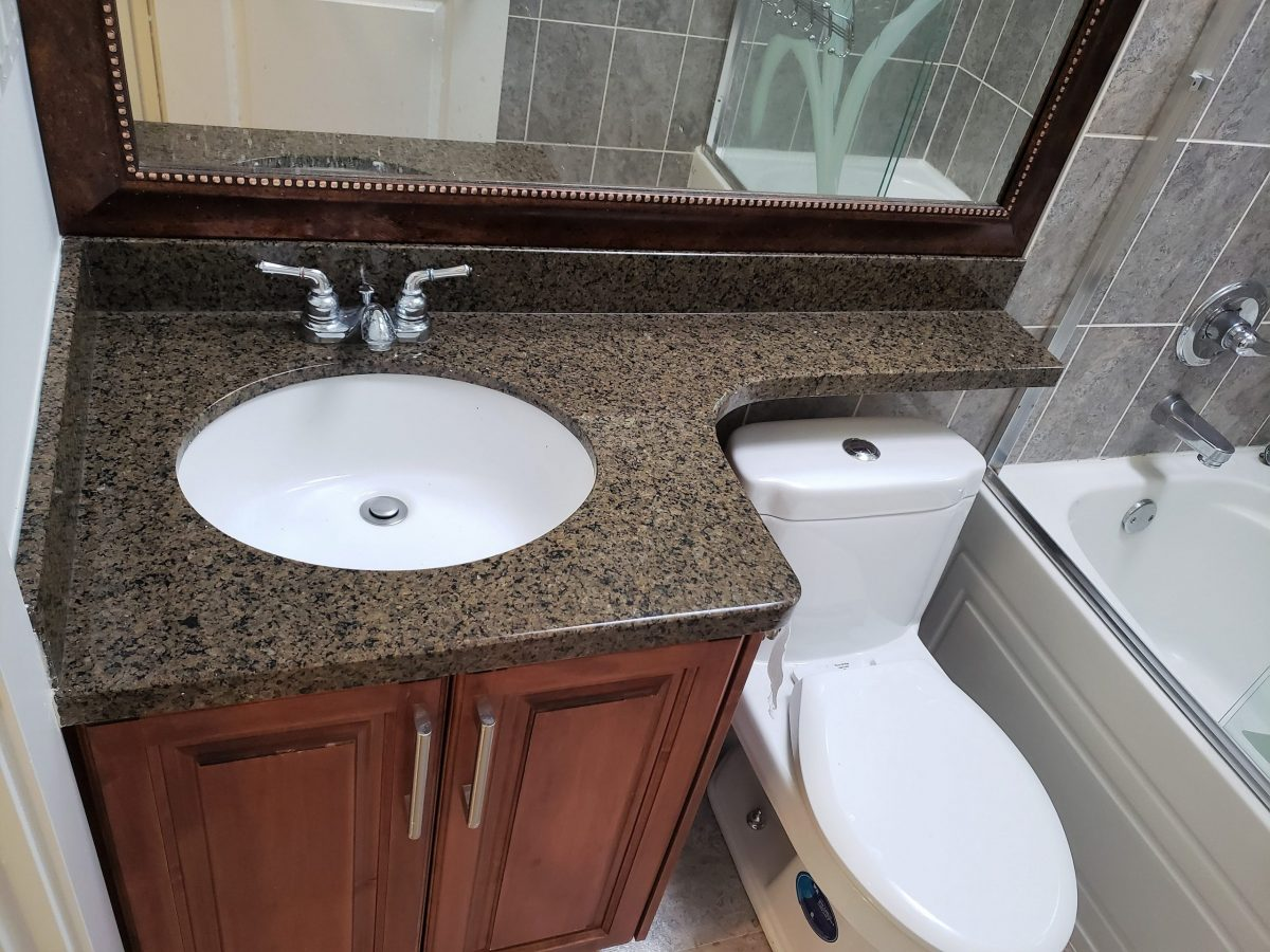 Renew it all - vanity countertop before refinish