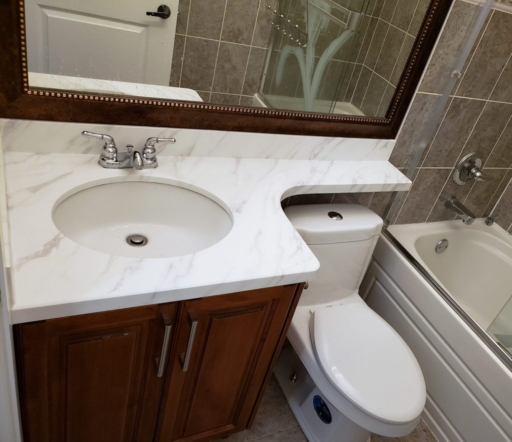 Renew it all - vanity countertop after refinish