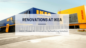 Renovation at IKEA with architectural vinyl film