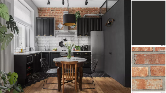 black kitchen wall - trends 2020