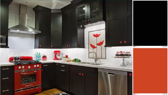 vintage vibes - black kitchen trend 2020
