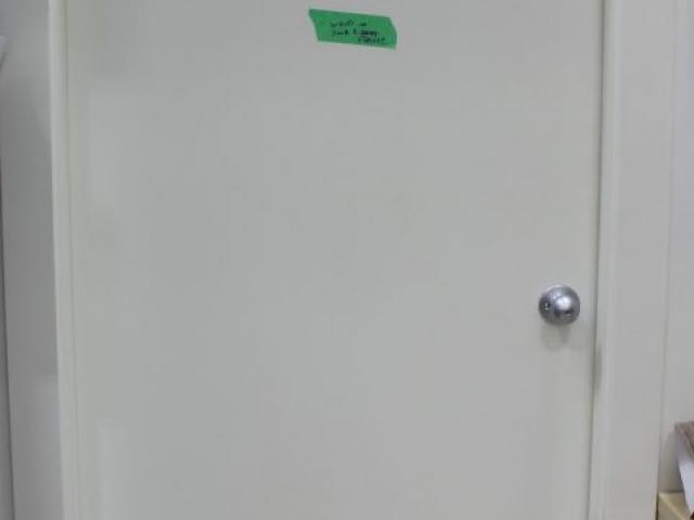 Bathroom Door Before