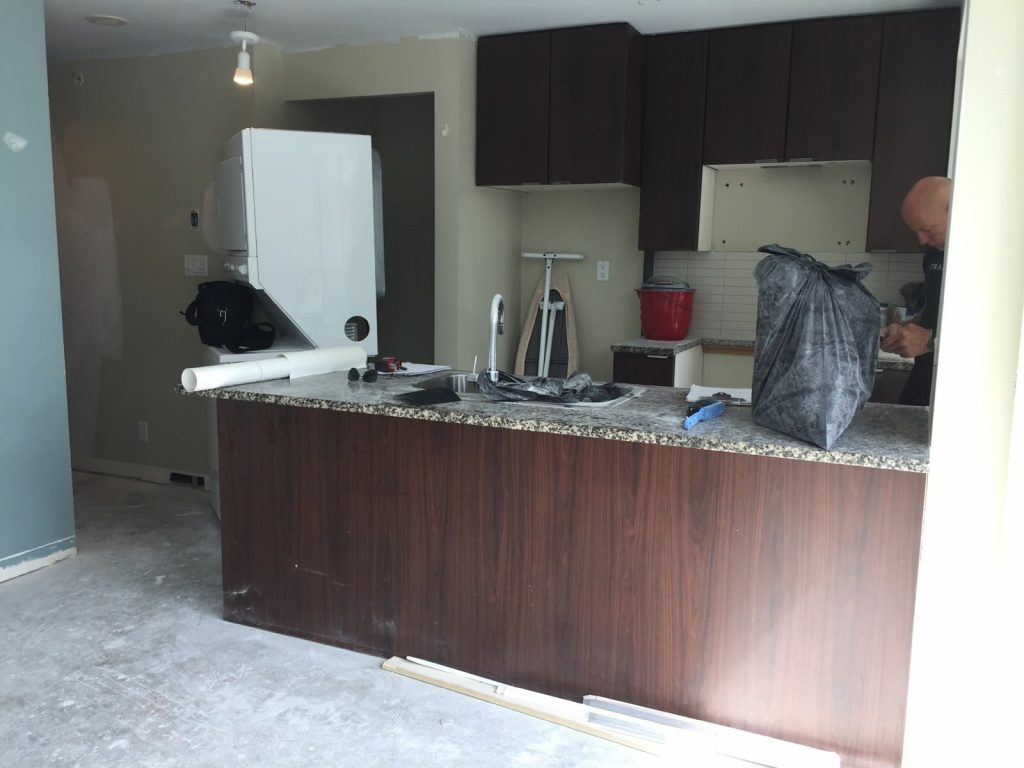 Kitchen renovation in Vancouver - before photo