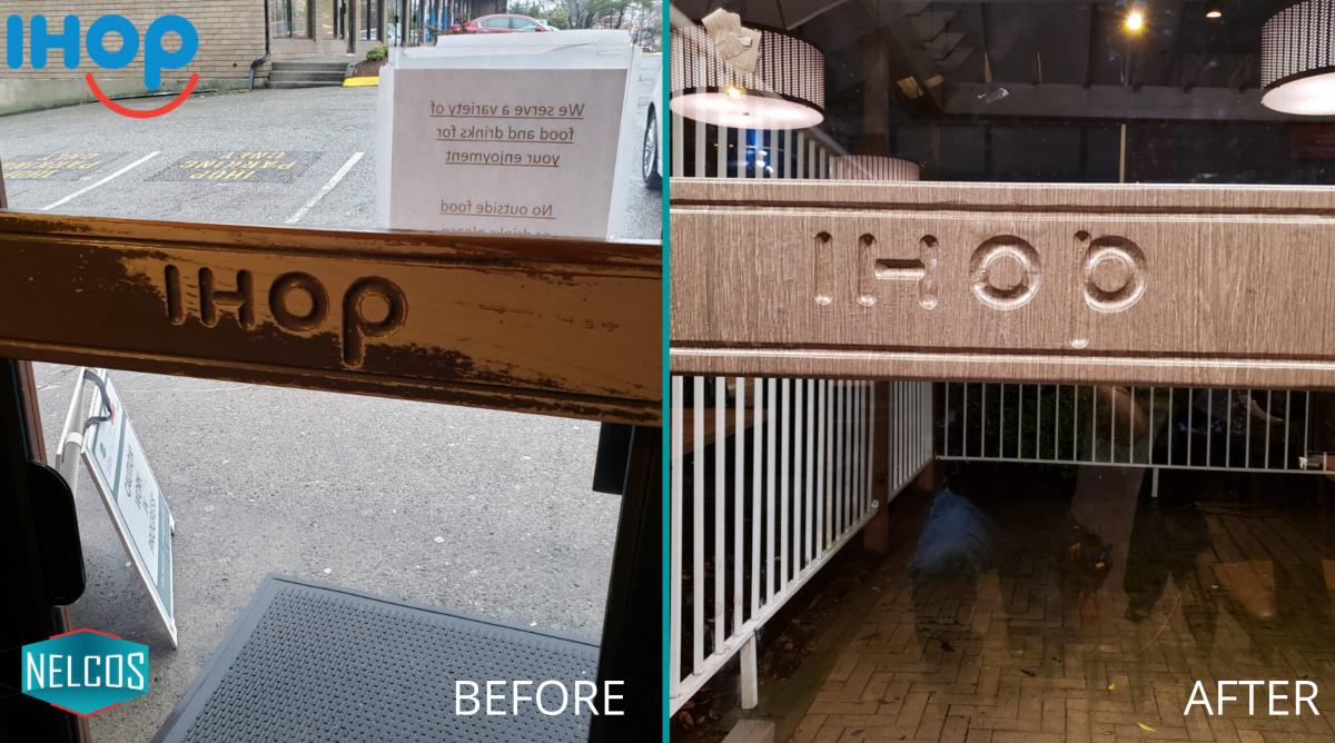 Restaurant Entrance Door Handle Refinish – Before&After