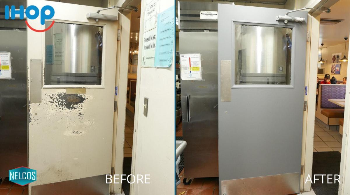Restaurant Kitchen Door Renovation – Before&After