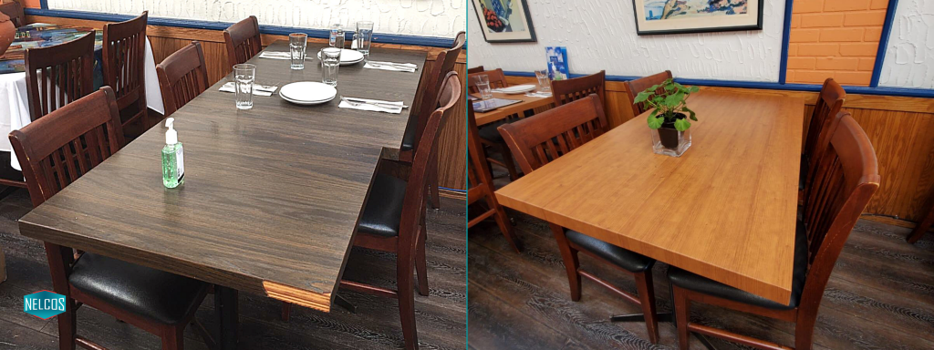 Restaurant Table Renovation - Before&After