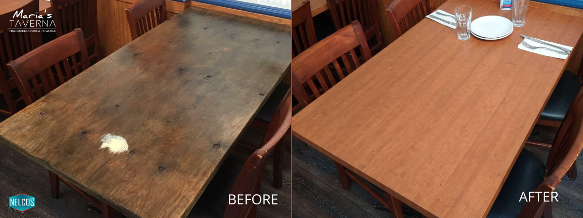 Restaurant Tables Renovation – Before&After