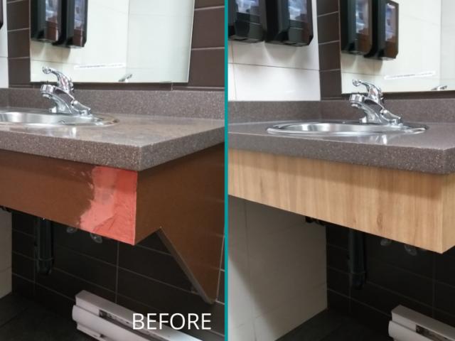 Restaurant Washroom Sink Base Renovation – Before&After
