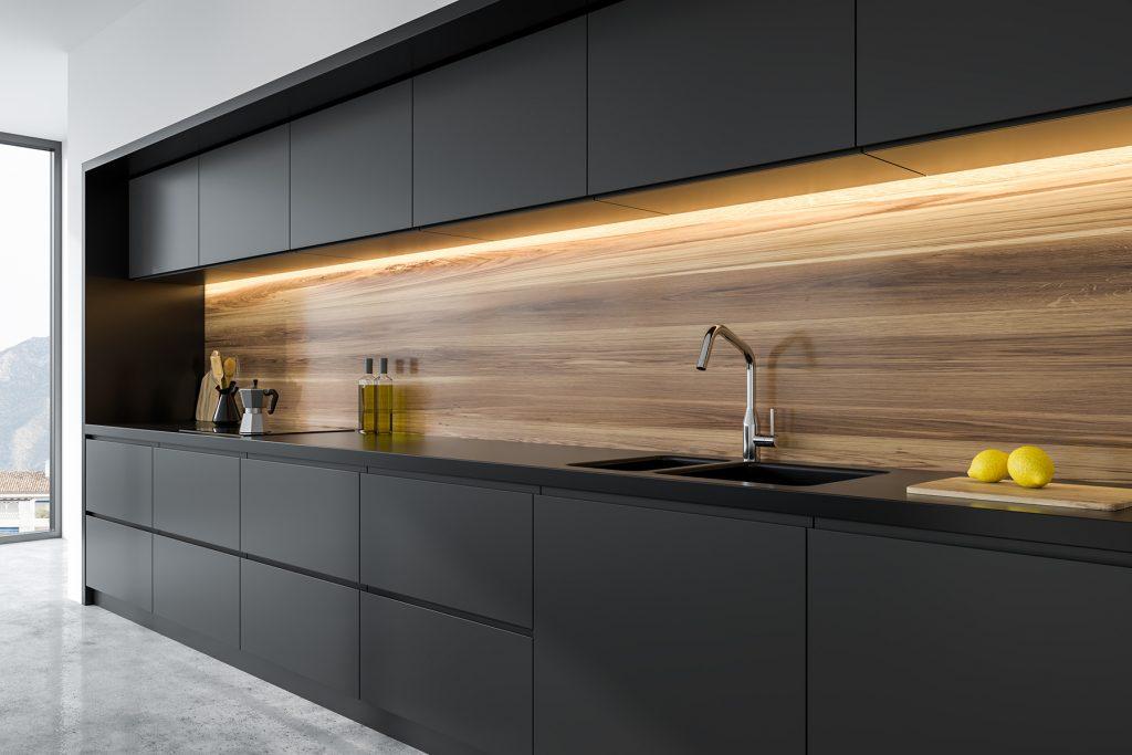 Black kitchen renovation, Vancouver