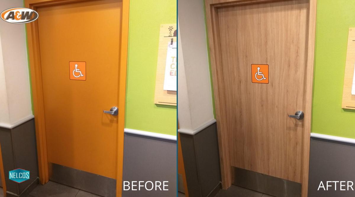 Washroom Door Renovation – Before&After