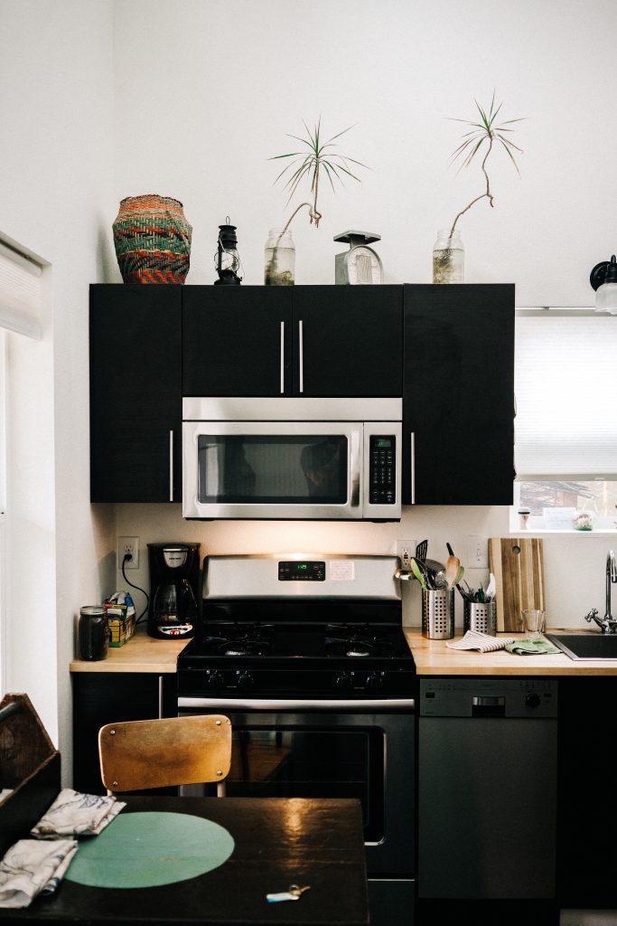 black kitchen renovation