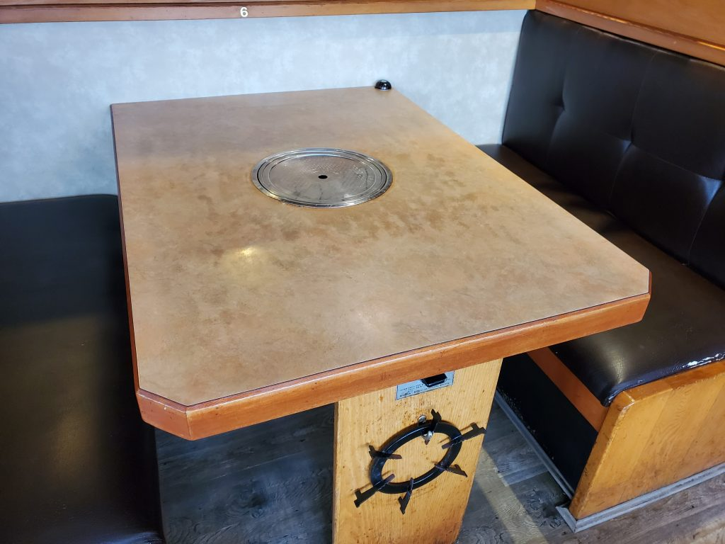 Restaurant Table before refinishing