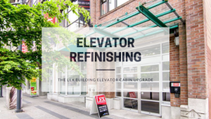 Elevator Cabin Refinishing - The Lex Building, Vancouver - Blog Post Featured Image