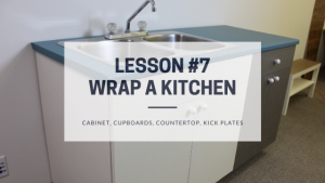 How to wrap a kitchen - cabinets, cupboards, countertop, kick plates - Blog Post Featured Image