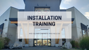 Mid Island Cabinets At Installation Training from Nelcos - Blog Post Featured Image