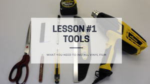 Tools for the architectural vinyl film installation_Blog Post Featured Image