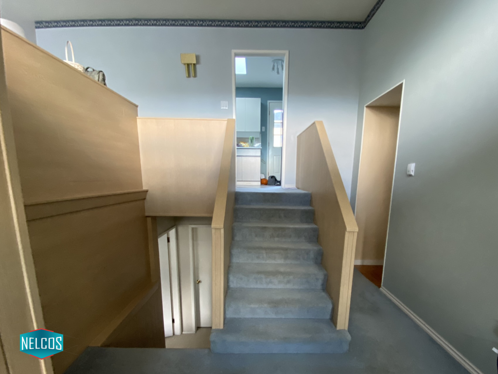 Entryway Staircase Panels After Upgrade