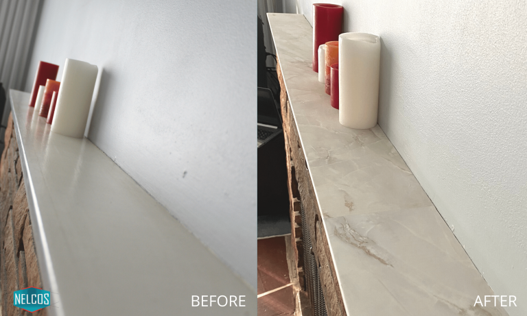 Mantel Refinishing- BEFORE&AFTER