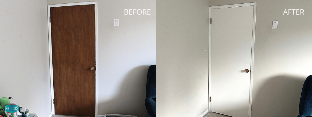 Playroom Door Refinishing - Before&After