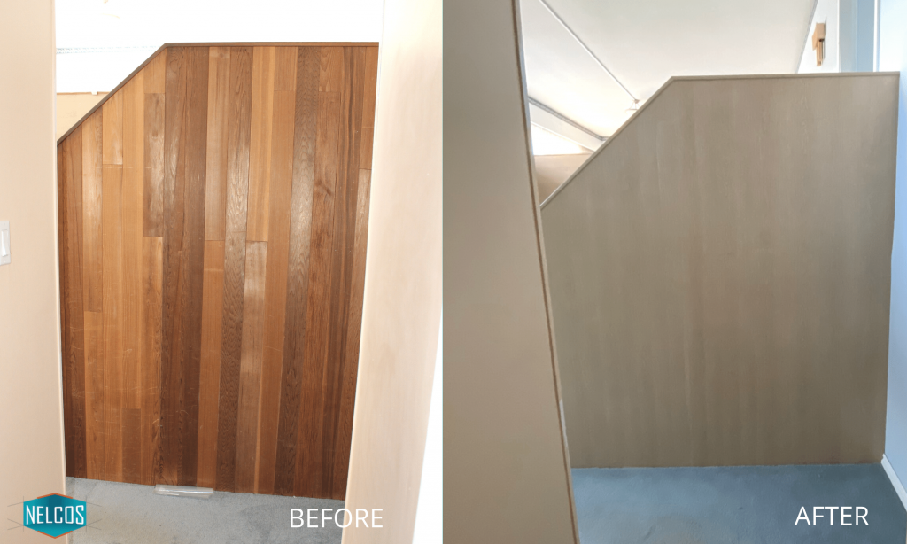 Staircase Panels - Before and After